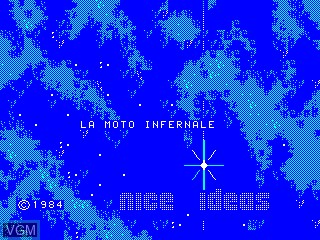 Title screen of the game Moto Infernale, La on Philips VG5000