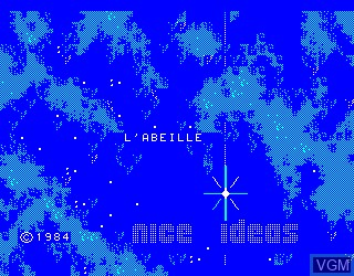 Title screen of the game L'Abeille on Philips VG5000
