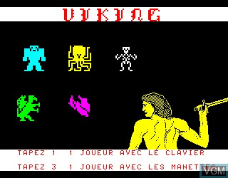 Title screen of the game Viking on Philips VG5000