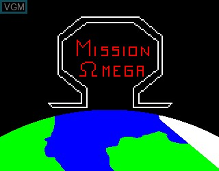 Title screen of the game Mission Omega on Philips VG5000