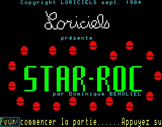 Title screen of the game Star-Roc on Philips VG5000