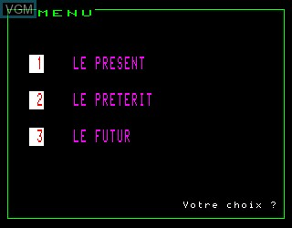 Title screen of the game Anglais Vol 2 on Philips VG5000