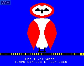 Title screen of the game Conjugaichouette, La on Philips VG5000