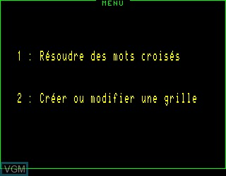 Title screen of the game Mes Premiers Mots Croises 1a on Philips VG5000