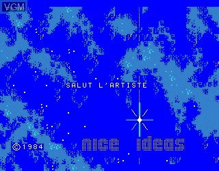 Title screen of the game Salut l'Artiste on Philips VG5000