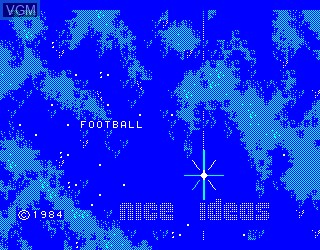 Title screen of the game Football on Philips VG5000