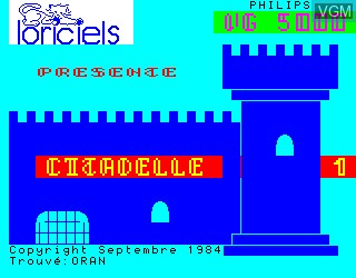 Title screen of the game Citadelle, La on Philips VG5000