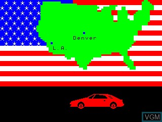 Menu screen of the game US Rallye on Philips VG5000