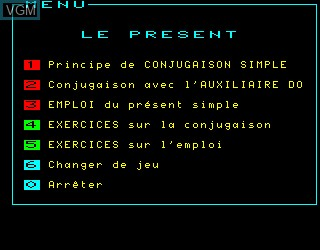 Menu screen of the game Anglais Vol 2 on Philips VG5000