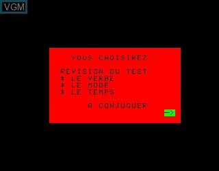 Menu screen of the game Conjugaichouette, La on Philips VG5000