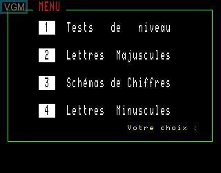 Menu screen of the game Lire Vite et Bien on Philips VG5000