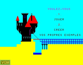 Menu screen of the game Preterite Star on Philips VG5000