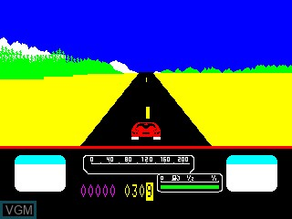 In-game screen of the game US Rallye on Philips VG5000