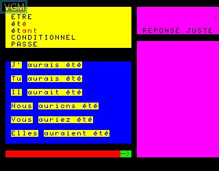 In-game screen of the game Conjugaichouette, La on Philips VG5000