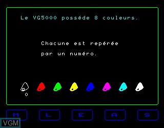 In-game screen of the game Decouverte du Basic 1 on Philips VG5000