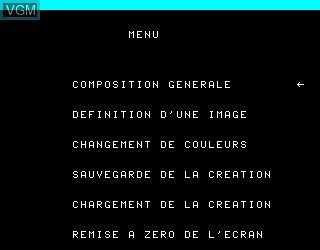 In-game screen of the game Salut l'Artiste on Philips VG5000