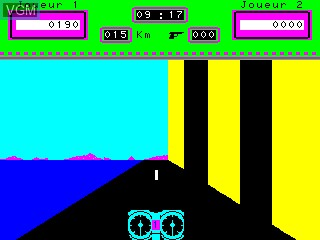 In-game screen of the game Moto Infernale, La on Philips VG5000