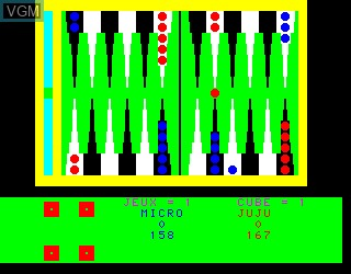 In-game screen of the game Backgammon on Philips VG5000