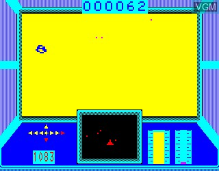 In-game screen of the game Mission Omega on Philips VG5000