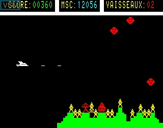 In-game screen of the game Star-Roc on Philips VG5000