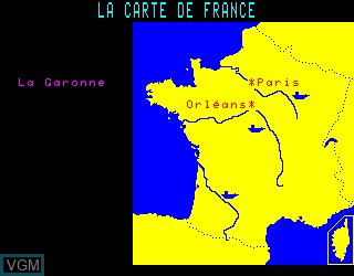 In-game screen of the game Carte de France, La on Philips VG5000