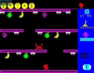 In-game screen of the game Monkey Academy on Philips VG5000