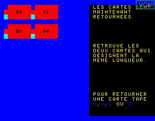 In-game screen of the game Systeme Metrique on Philips VG5000