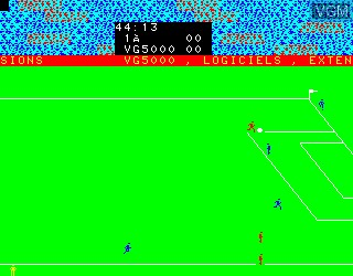 In-game screen of the game Football on Philips VG5000
