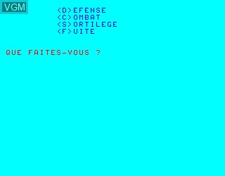In-game screen of the game Citadelle, La on Philips VG5000