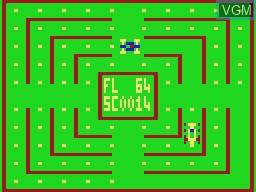 In-game screen of the game Crash on VTech Laser-VZ 200