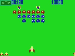 In-game screen of the game Galaxon on VTech Laser-VZ 200