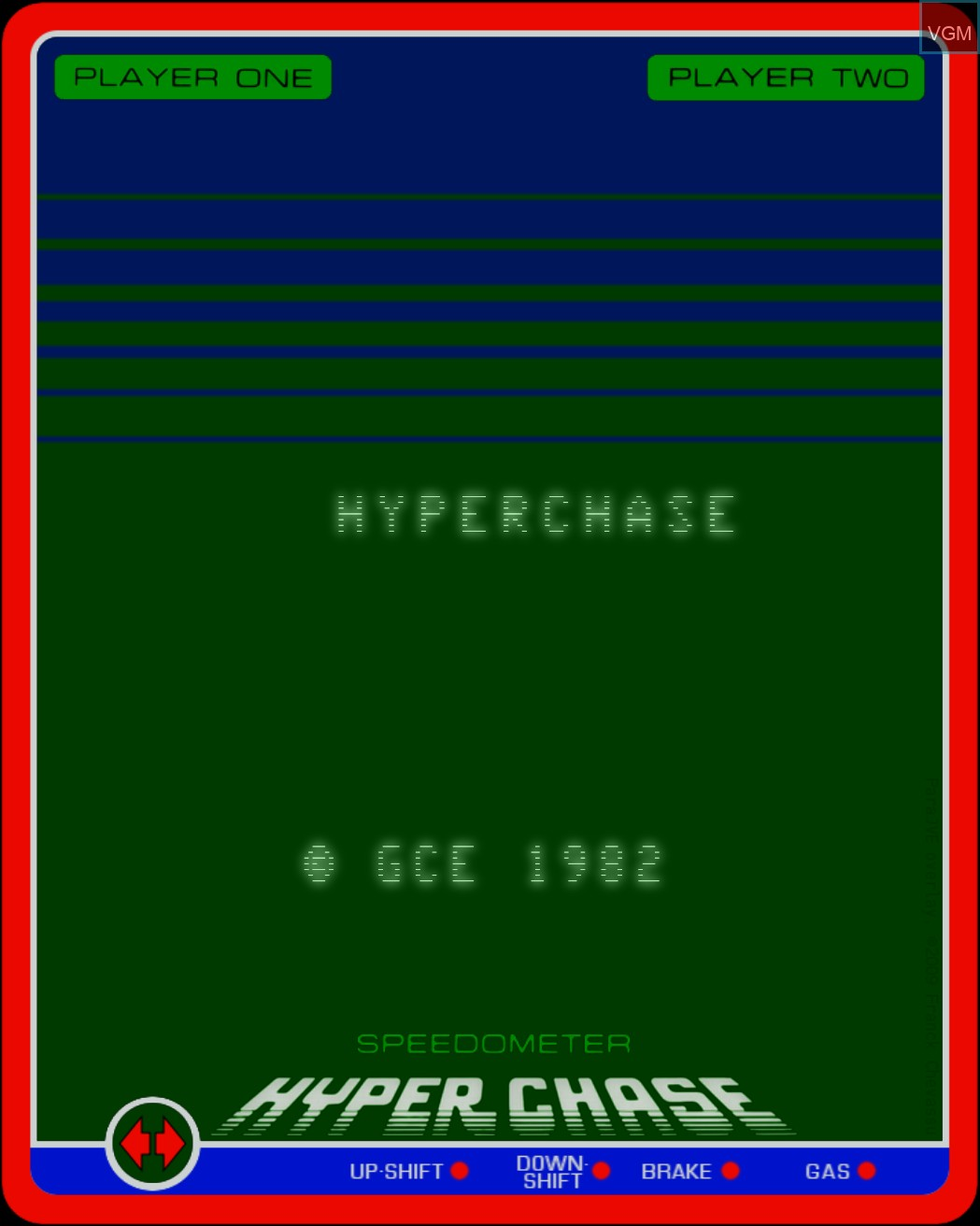 Title screen of the game Hyperchase on MB Vectrex