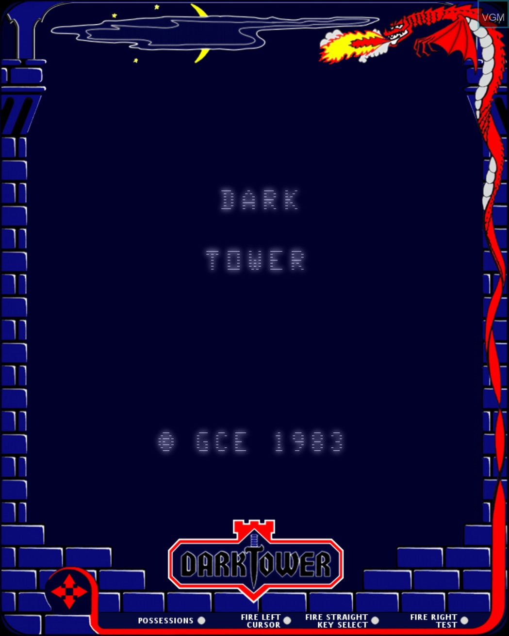 Title screen of the game Dark Tower on MB Vectrex