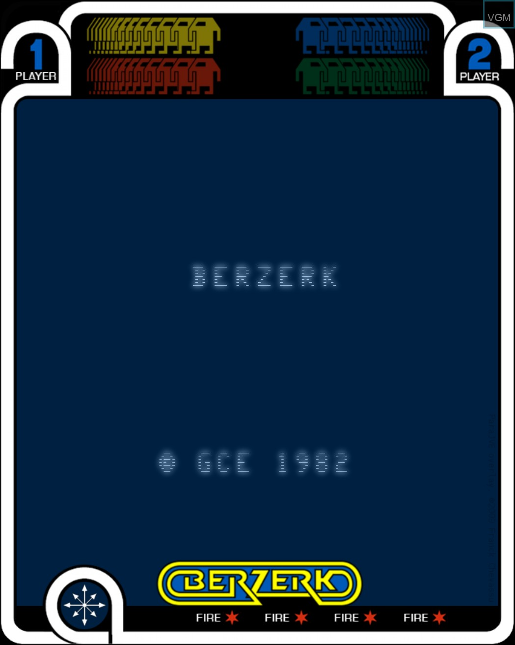 Title screen of the game Berzerk on MB Vectrex