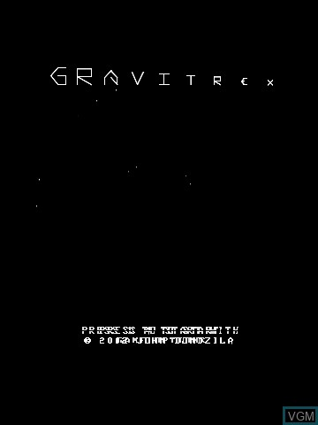 Title screen of the game Gravitrex by John Dondzila on Nintendo Vectrex