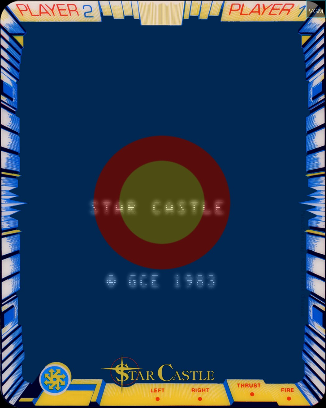 Title screen of the game Star Castle on MB Vectrex