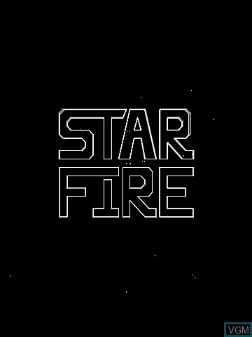 Title screen of the game Star Fire Spirits by John Dondzila on MB Vectrex