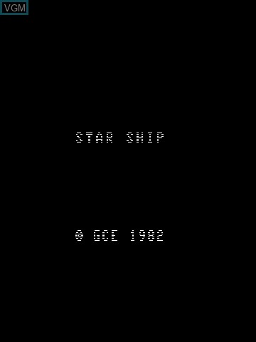 Title screen of the game Star Ship on MB Vectrex