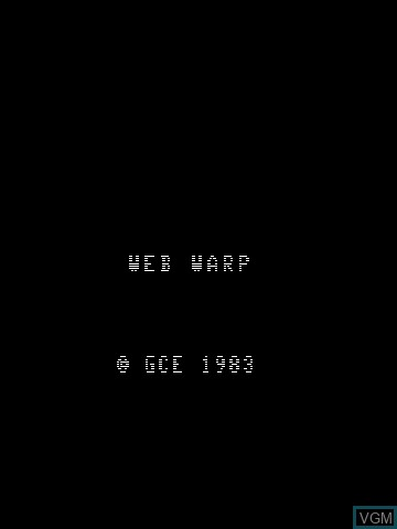 Title screen of the game Web Warp on MB Vectrex