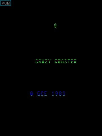 Title screen of the game 3-D Crazy Coaster on MB Vectrex