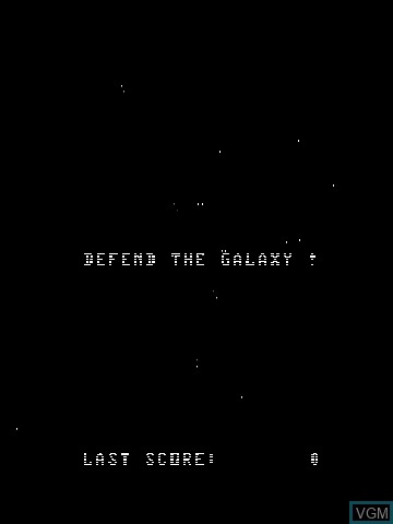 Menu screen of the game Star Fire Spirits by John Dondzila on MB Vectrex