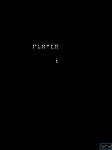 Menu screen of the game Web Warp on MB Vectrex