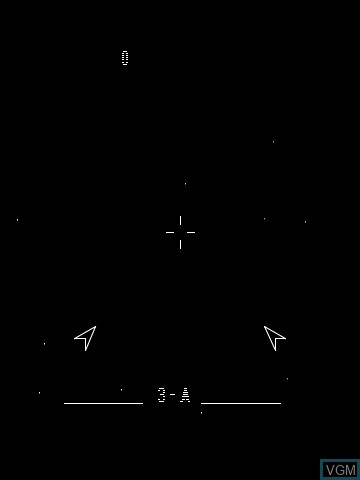 In-game screen of the game Star Ship on MB Vectrex
