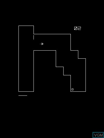 In-game screen of the game Nona3 by Manu on MB Vectrex