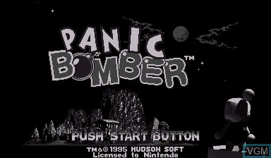 Title screen of the game Panic Bomber on Nintendo Virtual Boy