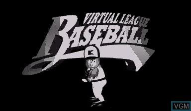 Title screen of the game Virtual League Baseball on Nintendo Virtual Boy