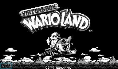 Title screen of the game Virtual Boy Wario Land on Nintendo Virtual Boy