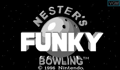 Title screen of the game Nester's Funky Bowling on Nintendo Virtual Boy