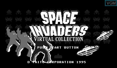 Title screen of the game Space Invaders Virtual Collection on Nintendo Virtual Boy