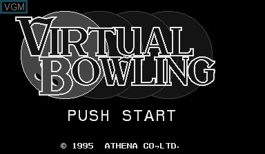 Title screen of the game Virtual Bowling on Nintendo Virtual Boy